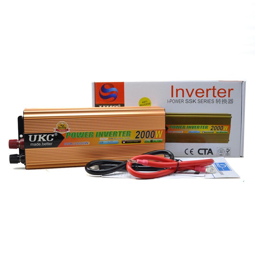 2000W Car Modified Sine Wave Power Inverter Converter Charger Car DC 12V to AC 220v Converter new 1000w modified sine wave inverter car power inverter dc12v to ac converter 220 v usb car charger cigarette lighter