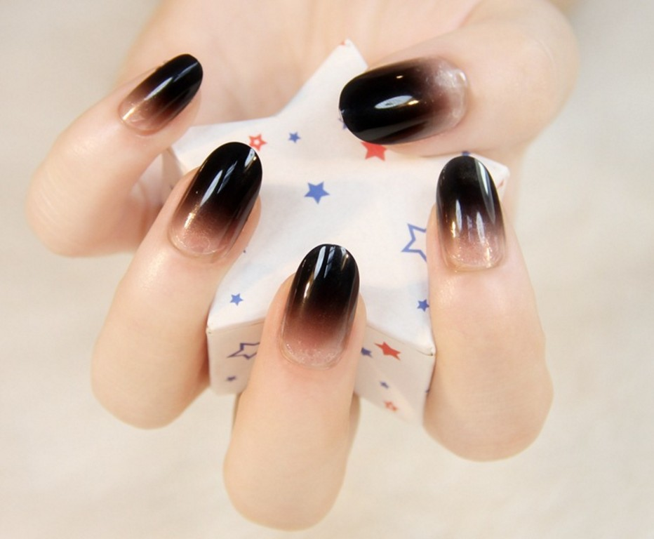 Full Cover False Nail Tips Almond Shape Fake Acrylic Nail Art Tip ...