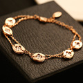 Luxury Bracelets & Bangles Platinum/Rose Gold Plated Fashion Crystal Zircon Beads Wedding Jewelry For Women Gift BRP003