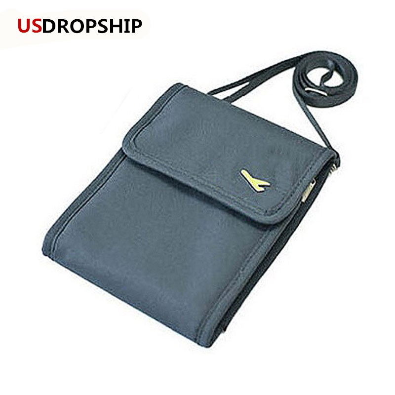 USDROPSHIP Fashion Women Messenger Passport Set Travel Wallet Mens Travel Messenger Shoulder Bag Wallet Security Anti-theft Bag ...