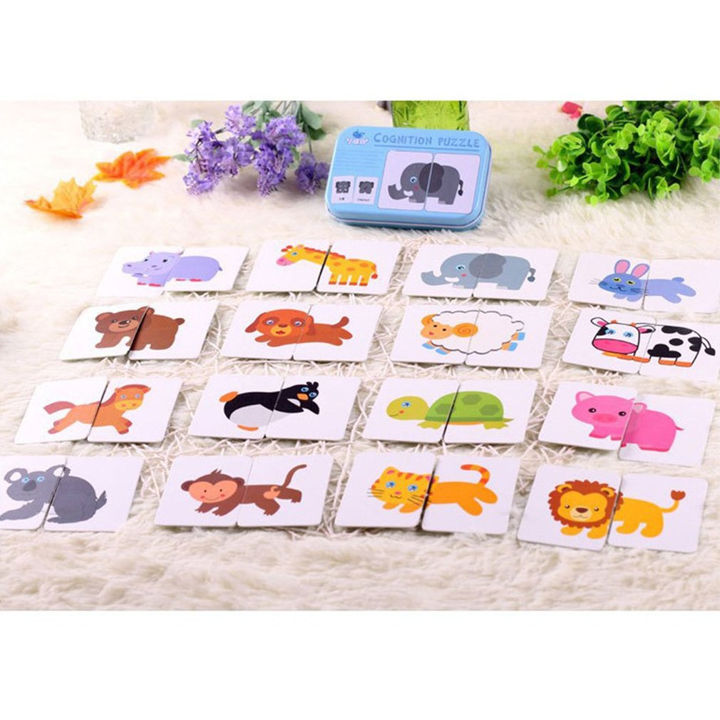 Baby Learning Card Children Cognitive Card With Iron Box Kids English Learn Tool Montessori Educativos Tools Table Game Puzzle