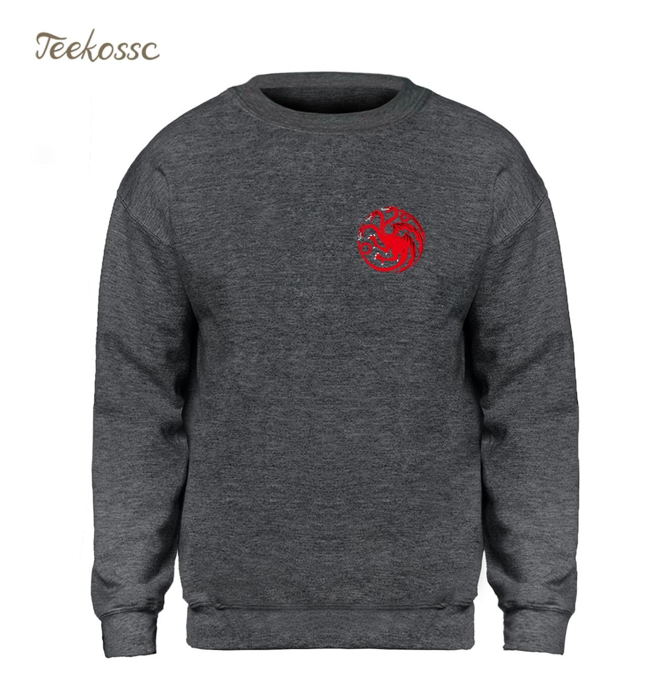 Game Of Thrones Hoodie Men Targaryen Fire & Blood Sweatshirt Hip Hop Sweatshirts 2018 Winter Autumn Fleece Warm Cool Sportswear