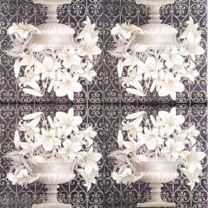 Image 2 - 20 Vintage table Napkin paper decoupage wedding christmas birthday party  flower white balck serviettes  decorative tissue