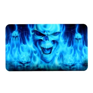Image 3 - Fire Skull Vinyl Decal Waterproof Sticker for PS4 for Sony PlayStation 4 Protector Cover +2 Stickers for PS4 Controller Gamepad