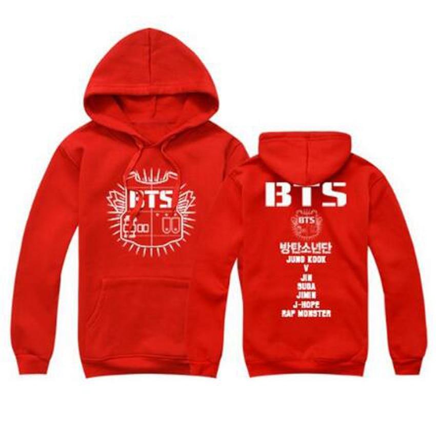 Kpop Bts Harajuku Hooded Bangtan Boys Women Hoodies Sweatshirt Tracksuits Women Autumn Winter Outerwear Long Sleeve Bts Logo