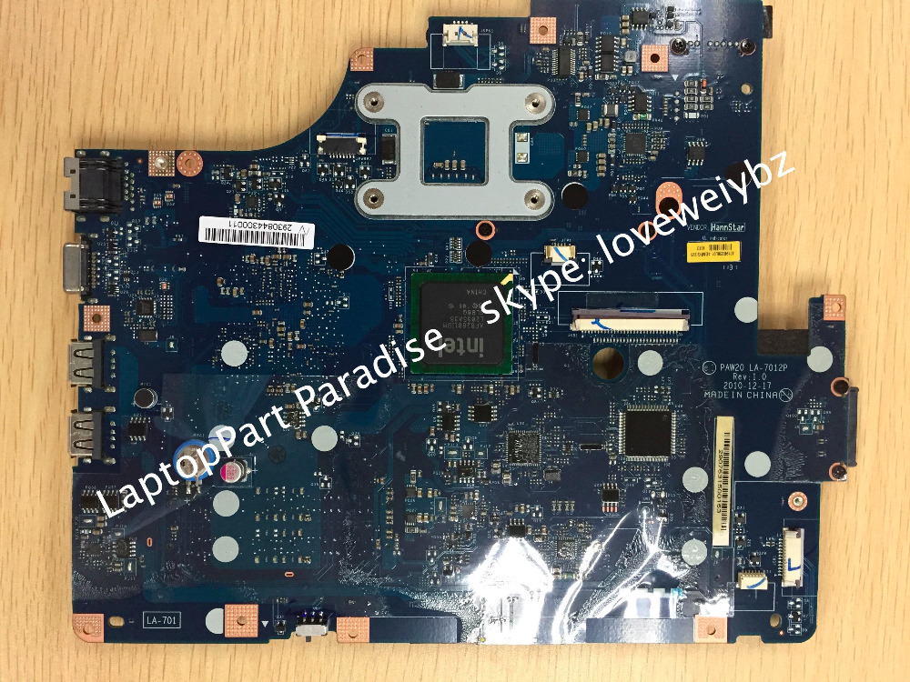 PAW20 LA-7012P Rev:1.0 Mainboard For Lenovo G560E Laptop Motherboard