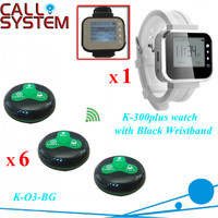 Wireless communication system Waiter call pager system 1 watch 6 bells