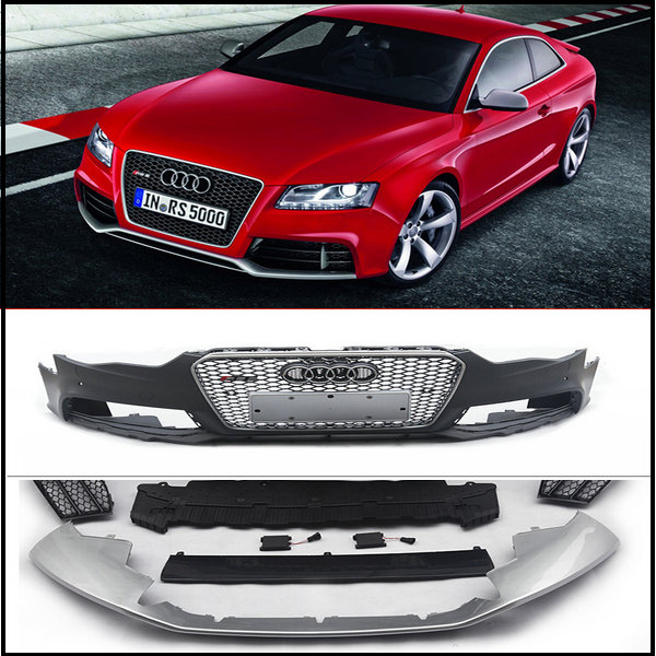 PP RS Front Bumper With Front Grill Front Lip Etc Auto Body Kits - Audi auto body