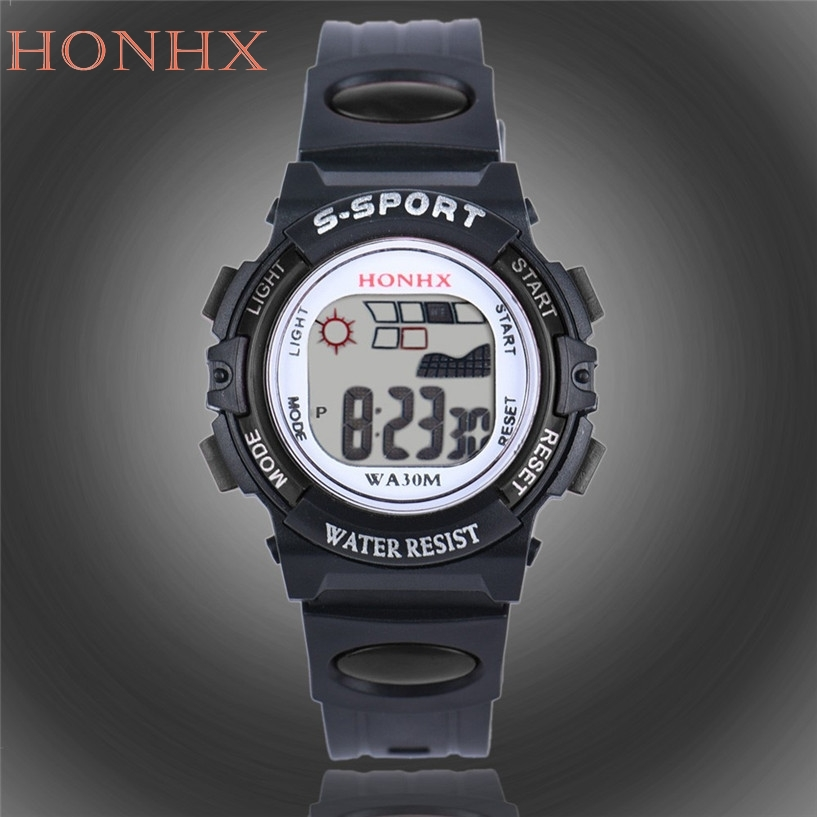 Purposeful Honhx Fabulous Mens Children Boys Digital Led Sports Watch Kids Alarm Date Watch Gift J29 Fixing Prices According To Quality Of Products Digital Watches