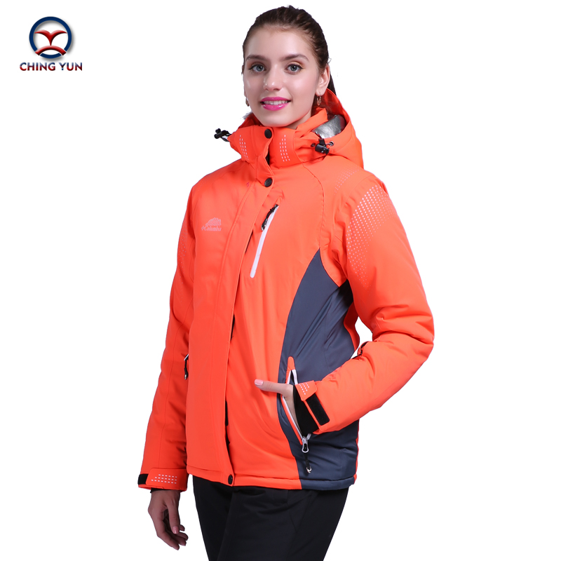 2016 women winter new ski suit thermal cotton windproof patchwork women's sports sets outdoor skiing snowboard jacket trousers цены онлайн