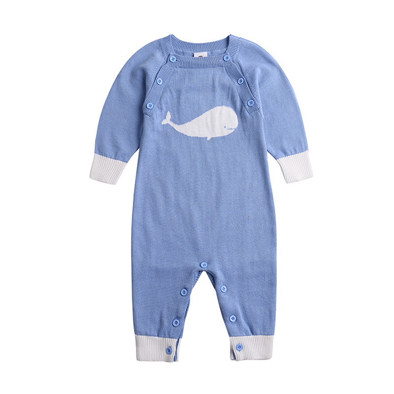 Fashion 2017 Boy girl rompers cute cartoon newborn cotton rompers autumn winter long sleeve knit jumpsuit baby coverall DQ287 newborn baby rompers baby clothing 100% cotton infant jumpsuit ropa bebe long sleeve girl boys rompers costumes baby romper