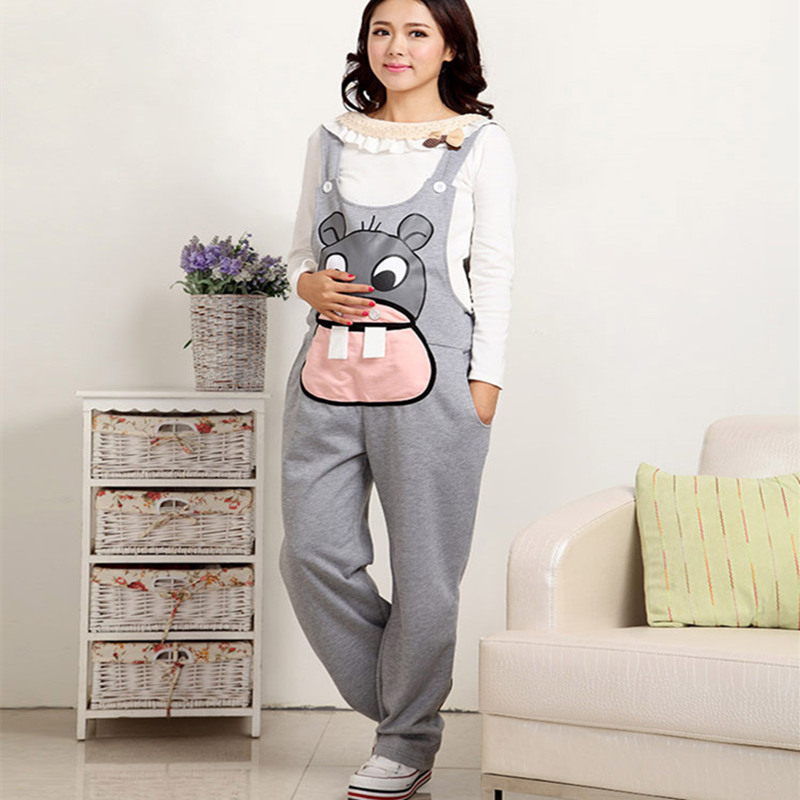 Gravidas Jumpsuit Maternity Pants Long Pregnancy Clothes For Pregnant Women Overalls Roupa Gestante Trousers Autumn Winter
