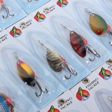 30 X Metal Mixed Spinners Fishing Lure Pike Salmon Baits Bass Trout Fish Hooks