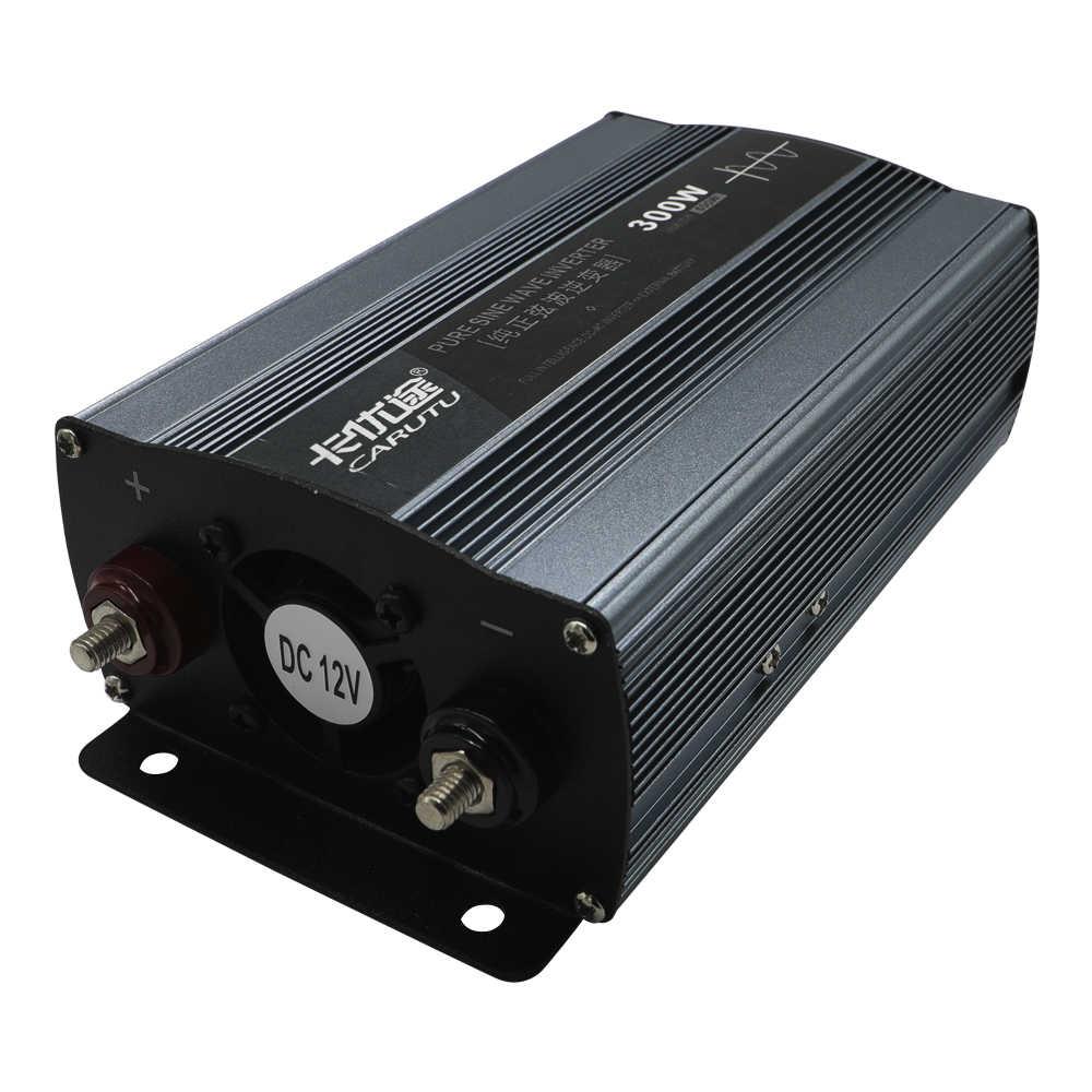 Ücretsiz kargo sürdürülebilir tam 300W güç güneş saf sinüs dalga invertör 12V 220V otomatik invertör 24V aydınlatma için bilgisayar fanı küçük