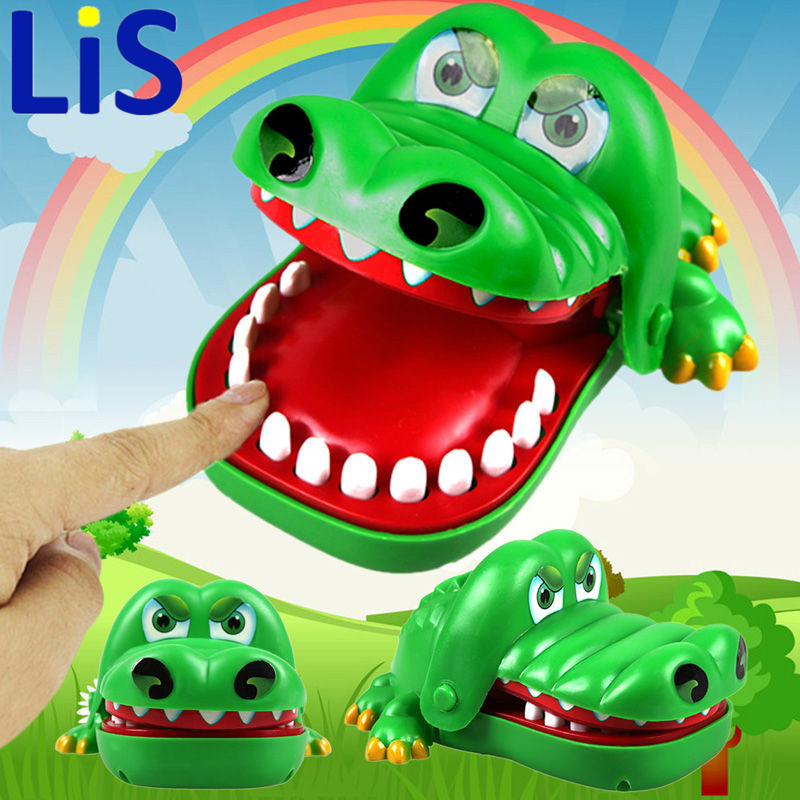 Lis Large Crocodile Mouth Dentist Bite Finger Game Funny Toy Gift ,Funny Gags Toy Novetly Toys For Kids Gift