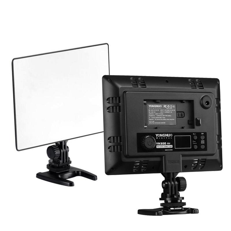 Prix pour Dslr YONGNUO YN300 Air Ultra mince CRI 95 + Led Video Light Panel 3200 - 5500 K couleur température 2000LM pour Canon Nikon Sony caméras