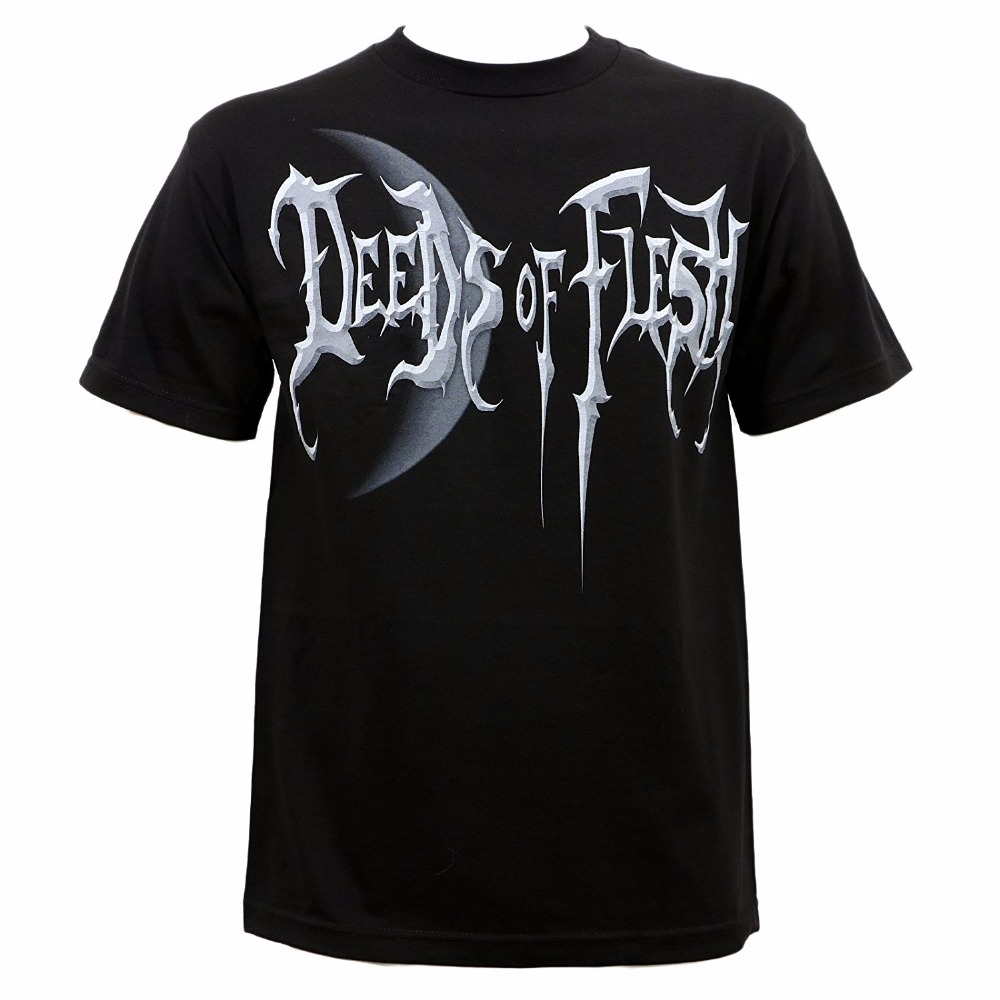 Cartoon Hip Hop Shirt Mens Deeds Of Flesh Mens Portals Moon T-Shirt Short Printing Machine O-Neck T Shirts