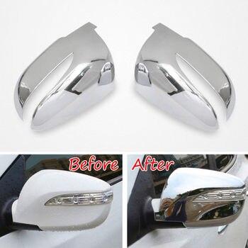 2 pièces ABS côté porte rétroviseur couverture décoration garniture protecteur pour Hyundai Tucson IX35 2010-2015 voiture style