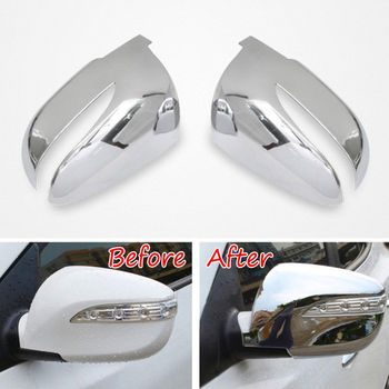 2pcs ABS Side Door Rear View Mirror Cover Decoration Trim Protector For Hyundai Tucson IX35 2010-2015 Car Styling