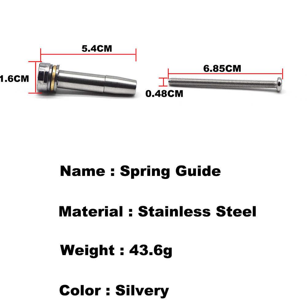 Cnc mola de rolamento de esferas, guia de mola de rolamento de esferas de aço inoxidável para caixa de engrenagens ver.3/ver.2 airsoft aeg (m4/m16/mp5/cicatriz/g3) blaster em gel