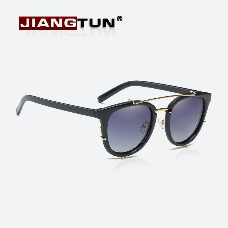JIANGTUN font b Fashion b font Vintage Round Sunglasses font b Polarized b font Women Brand