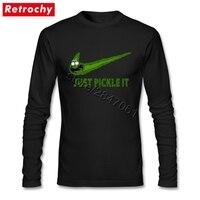 XXXL 2017 Funny Pickle Rick T Shirt Tee Mens Streetwear Long Sleeved Urban T Shirt Clothing