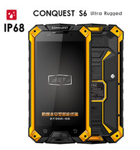 Original Conquest S6 MTK8752 8 Qtca Cores 5″ Android 5.1 3GB RAM 32GB ROM IP68 Rugged Waterproof Phone CAT B15Q 4G LTE FDD S8