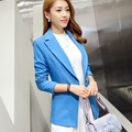 Winter Veste Femme Blazer Office Korean Feminino Suit Women Green Blazers and Jackets 2016 Bleiser Mujer Navy Blue Ladies Coats
