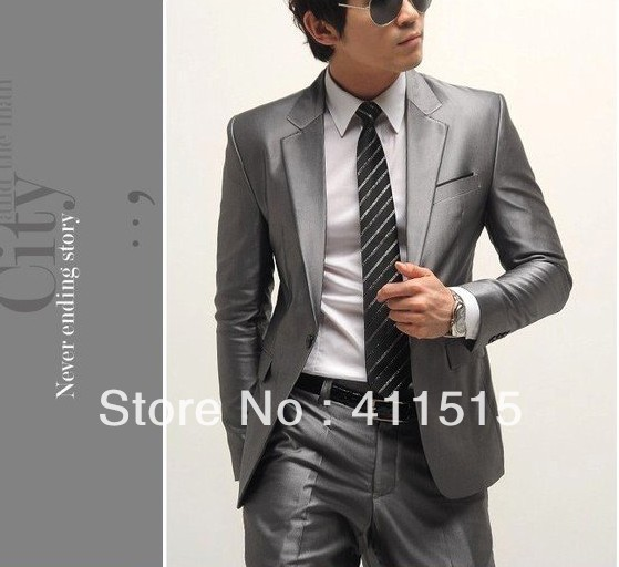 CUSTOM Tailored suit/free shipping Slim bridegroom Korean suit ...