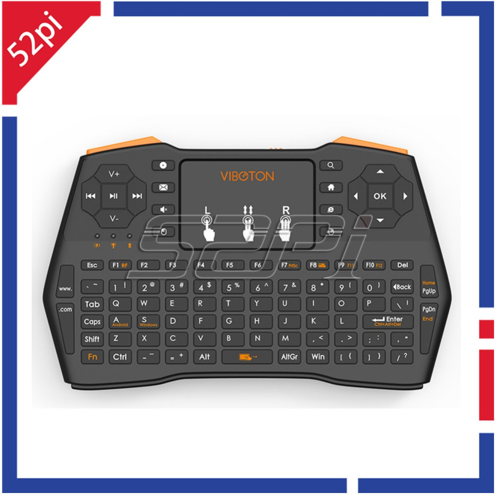 buy mini i8 plus 2 4ghz handheld wireless english keyboard with touchpad remote. Black Bedroom Furniture Sets. Home Design Ideas