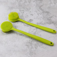 1 pcs Silicone Brush Back Scrubber with Long Handle Bath Body