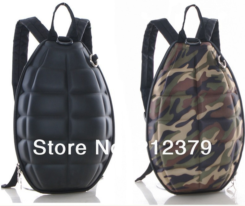 1 piece new creative personality grenade Backpack trend of childrens bomb bag Fashion men women bomb school bag