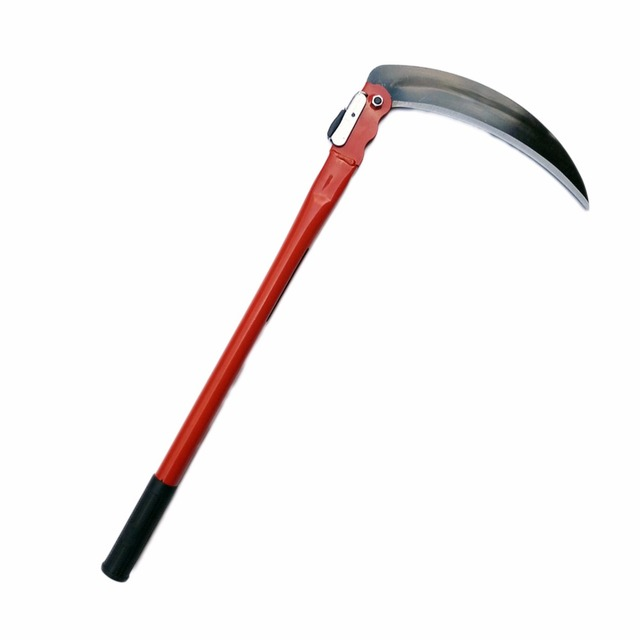 US $14 07 |Gardening Grass Sickle Lightweight Sharp Long Handle Hand Sickle  Hand Scythe Garden Tool for Weeding-in Sheds & Storage from Home & Garden