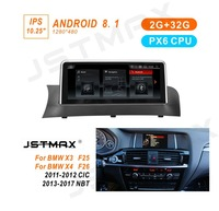 JSTMAX 10.25Android 7.1 Car Audio Stereo for BMW X3 F25 X4 F26 2011 2012 2013 2014 2015 2016 2017 GPS Navigation Bluetooth Wifi