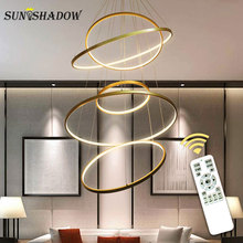 Circle Rings LED Pendant Light Living room Dining Kitchen Lighting Fixtures Modern Lamp Lustres Lampara techo
