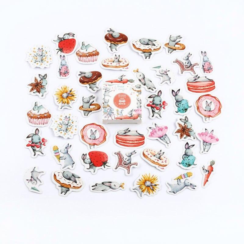 Mr. Бумаги 40 шт./кор. конфеты сказки деко наклейки для дневника Скрапбукинг планировщик японский Kawaii Декоративные Канцелярские наклейки - Цвет: K