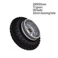 Free Shipping 200 50mm Electric Skateboard Gear Motor Truck Wheels Kit For Longboard Off Road Board