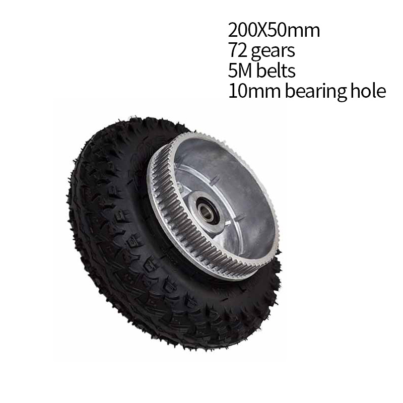 Free Shipping 200*50mm Electric Skateboard Gear Motor Truck Wheels Kit For Longboard Off Road Board