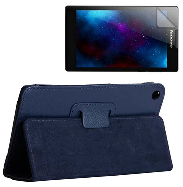 1x Clear Screen Protector , Luxury Magnetic Folio Stand Leather Case Cover For Lenovo Tab 2 Tab2 A7-30 A7-30TC A7-30GC/HC/DC/LC