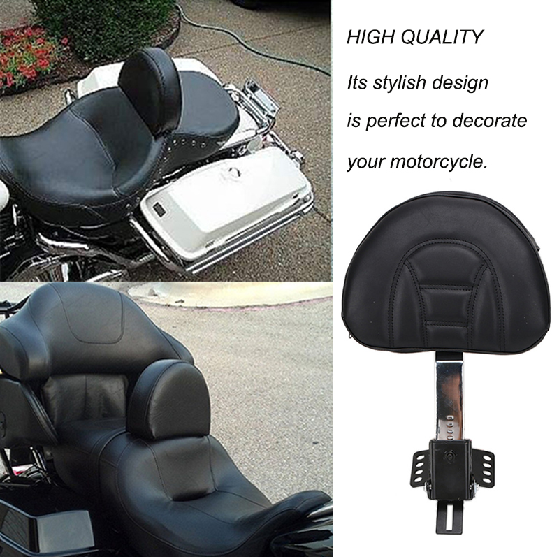 2017/Harley Road King Street Electra Glide r/églable Driver Rider dossier W//poche pour 1997