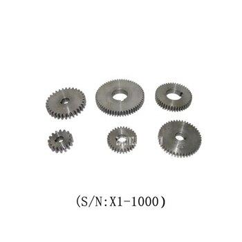 X1-1000 6PCS Metal Gear Set/SIEG X1 Change Gear Set 45 # steel  Metal gear Set