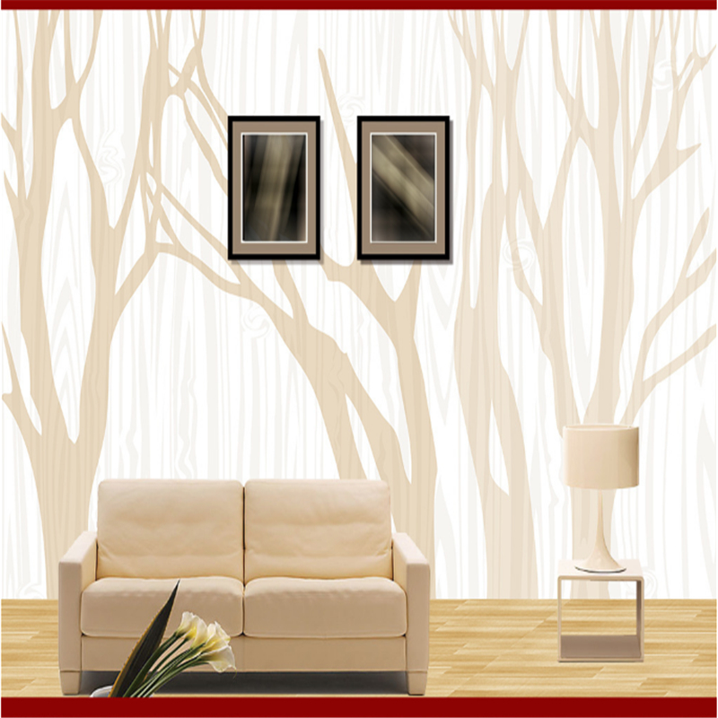 Custom 3d Embossed Wallpaper Abstract Minimalist Branches