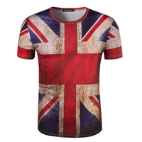 Brand Clothing New Fashion 3D Men Print Australian Flag T Shirt Short Sleeve Summer Wear T