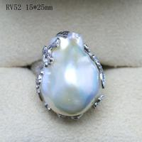 Женский подарок 925 Серебряное Настоящее натуральное особенное жемчужное кольцо чистое супер Преувеличение барокко открытие кольцо темп ко