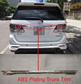 ABS Plating Trunk Trim PROTECTOR COVER TRIM FOR Toyota FORTUNER 2012 2013 2014 2015