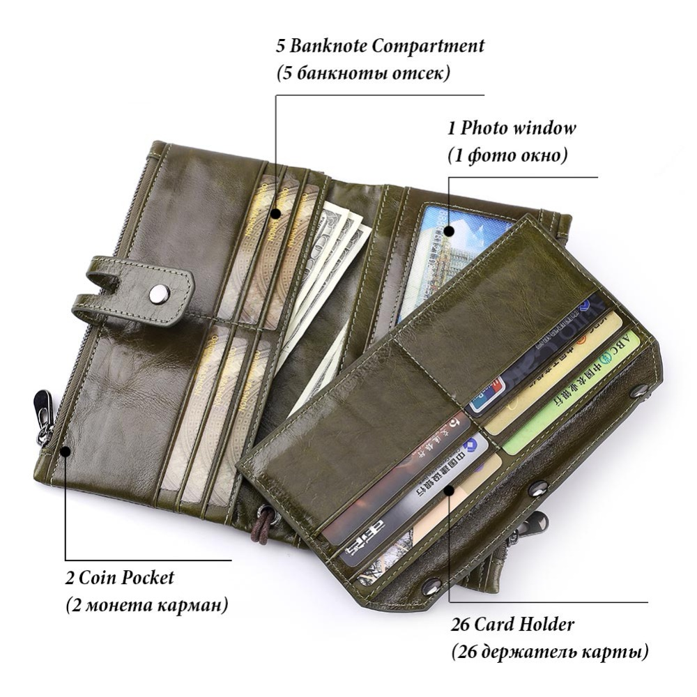 GZCZ Woman Wallet Clutch Genuine Leather Walet Rfid Lady Organizer Cell Phone Clutch Bag Long Coin Purse Portomonee Free Engrave