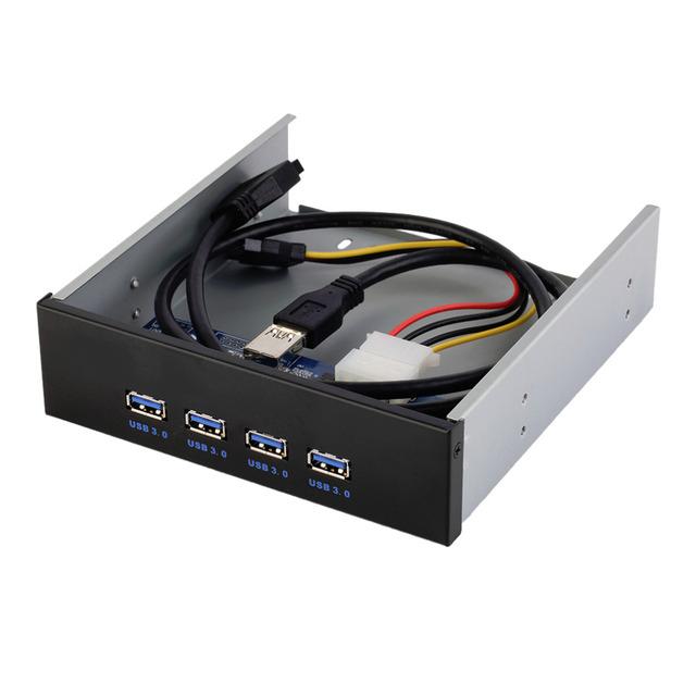 4 Puertos USB 3.0 Hub de Múltiples 20 Pin Expansión Frontal Panel de la Unidad de Soporte de PC Al Por Mayor