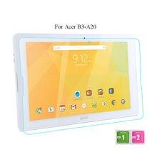 Tablet película de vidrio templado de vidrio para acer iconia one 10 b3-a20 10.1 Pulgadas Tablet PC de Cristal Borde 2.5D 9 H Protector de Pantalla Completa