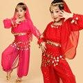 Seis Peças Definir Chiffon Calças Véu Traje Indiano Roupas de Dança Do Ventre Dança Do Ventre Desgaste Desempenho Vestido Danza Del Vientre LD048