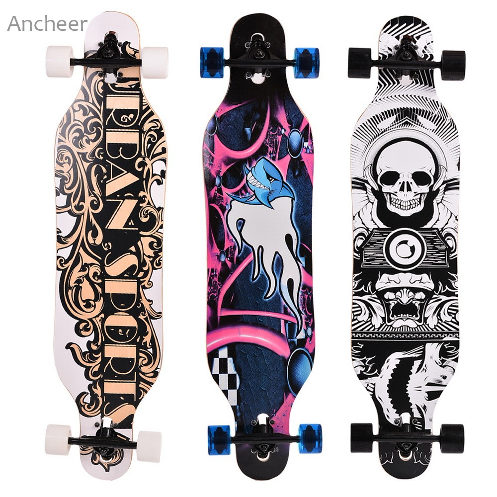 Elifine 41 inch Canadian Maple Professional Skateboard Road Longboard Skate Board 4 Wheel Downhill Street Long Board